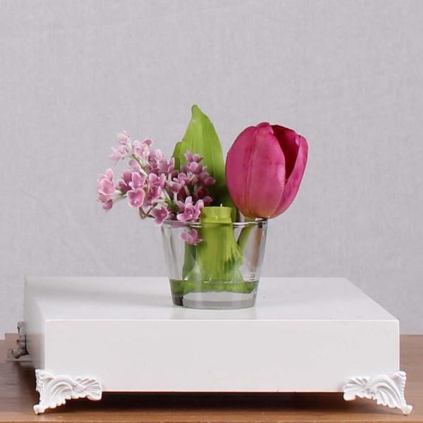 Червено лале и розова орхидея